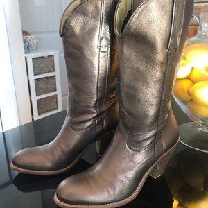 Jessica Simpson Shoes - Jessica Simpson Brand Copper/Gold Boots Size 7-1/2